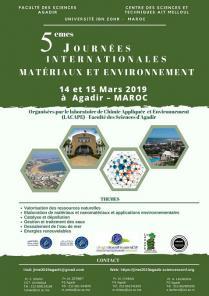 Participation aux 5ème Journées internationales matériaux et environnement