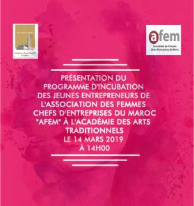 Présentation du programme d'incubation des jeunes entrepreneurs de l'AFEM