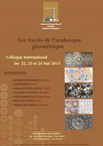 Colloque international sur « Les tracés de l'arabesque géométrique »