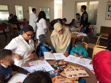 Day of animation and activities in partnership with the association NOUJOUM for the benefit of sick children